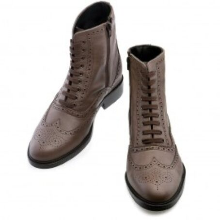 brown burnished wingtip brogue boots 2