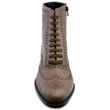 brown burnished wingtip brogue boots 4