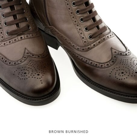 brown burnishes wingtip brogue boots 7