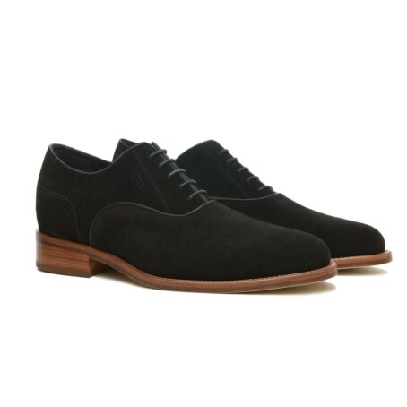 elegant oxford black suede with shiny