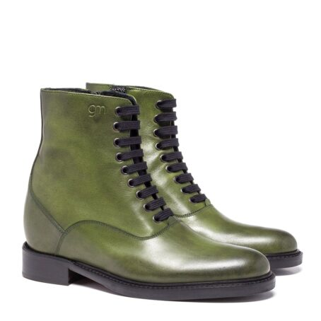 olive green classic boots made in leather 5