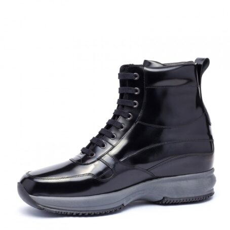 shiny black mid-
