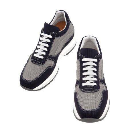 black and grey snekers in technical fabric 2