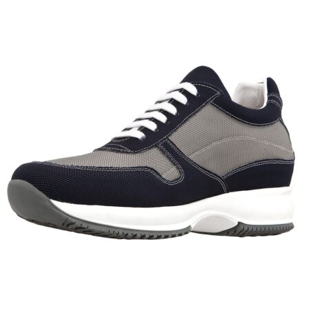black and grey snekers in technical fabric 3