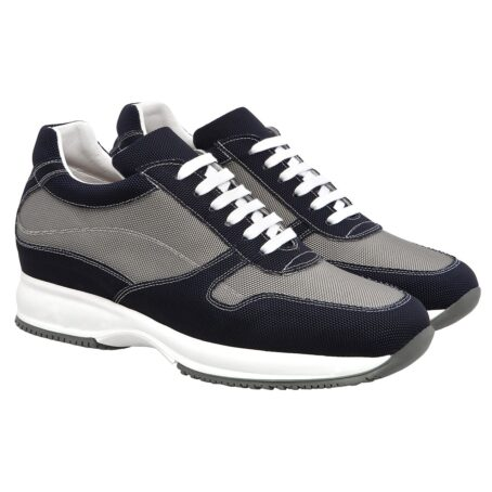 black and grey snekers in technical fabric 5