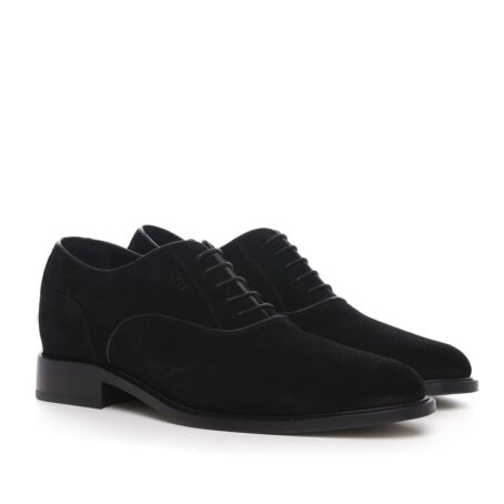 dark suede oxford dress shoes with shiny finishes 5