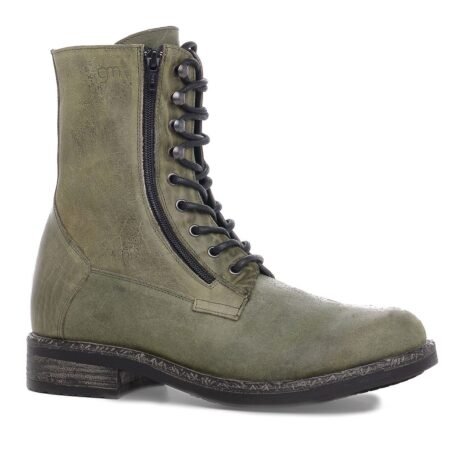 green boots with visible zip 1