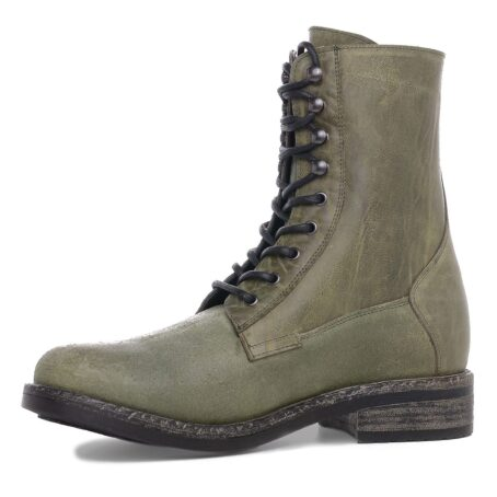 green boots with visible zip 3