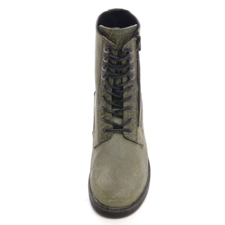 green boots with visible zip 4