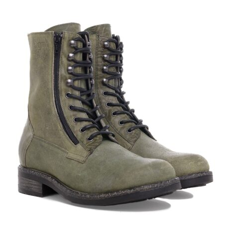green boots with visible zip 5