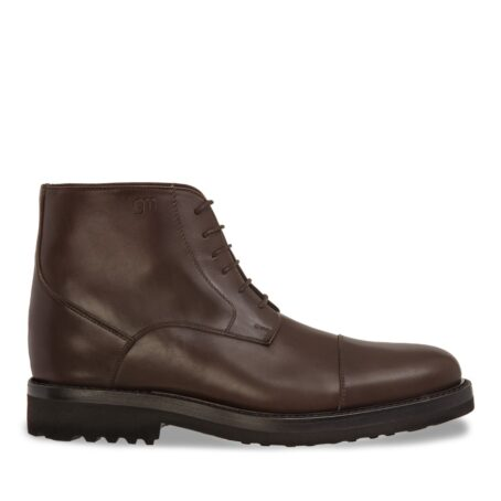 dark brown leather ankle boots 1