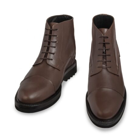 dark brown leather ankle boots 2