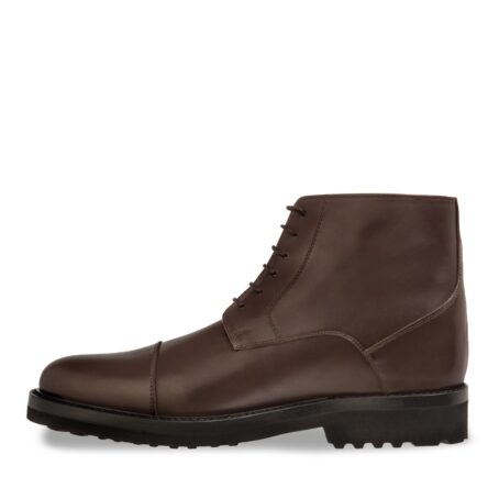dark brown leather ankle boots 3