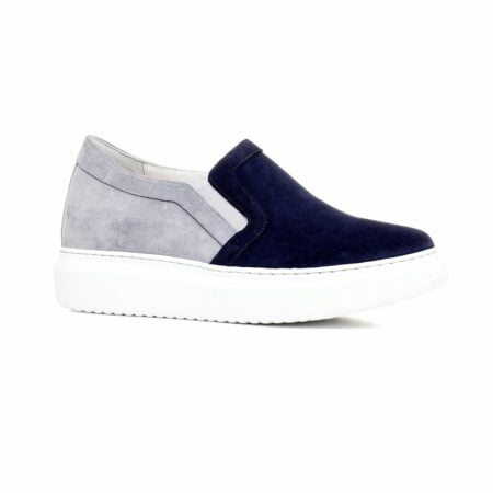 blue and grey suede slip-ons 1