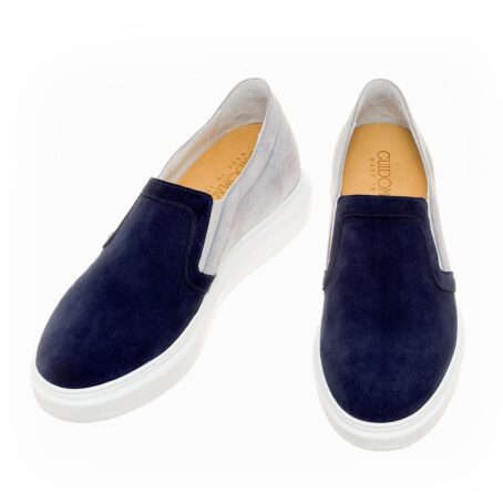 blue and grey suede slip-ons 2
