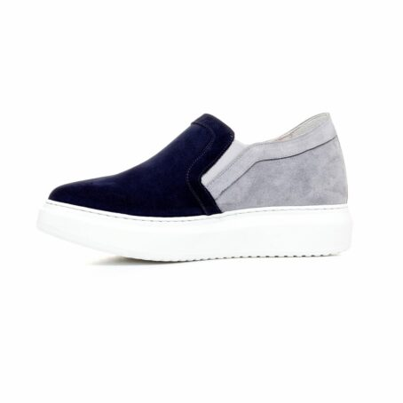 blue and grey suede slip-ons 3