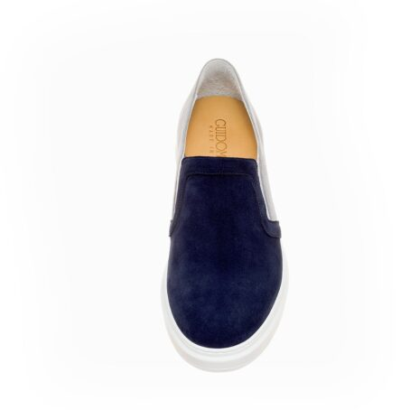 blue and grey suede slip-ons 4
