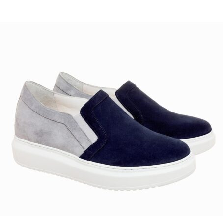 blue and grey suede slip-ons 5