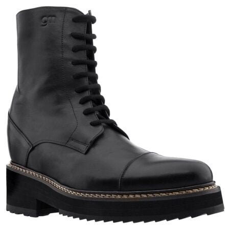 black leather traditional boots 1