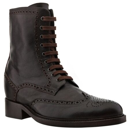 black ankle boots with brogue decorations 1