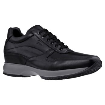 formal black leather sneakers 1