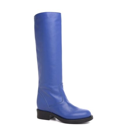 high-top blue women's boots 1