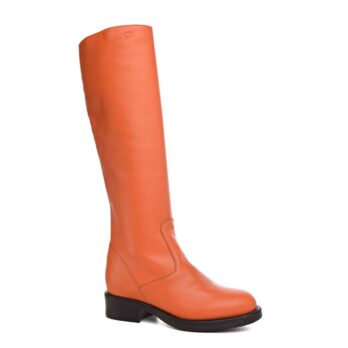 high-top orange women's boots 1