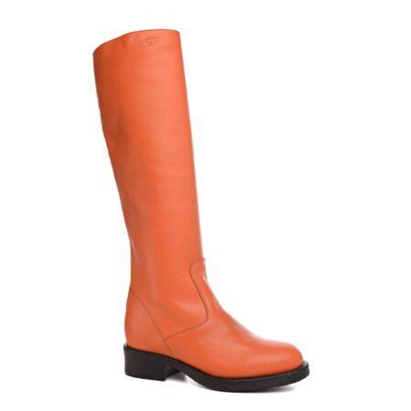 high-top orange women's boots 1