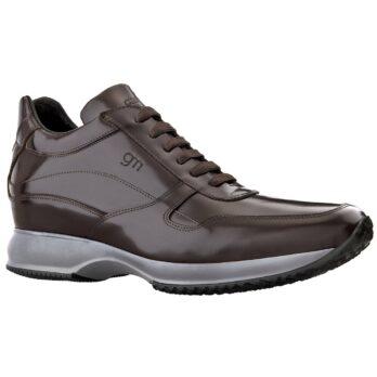 sneaker in shiny brown calfskin 1