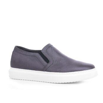 slip-on in grey technical fabric 1