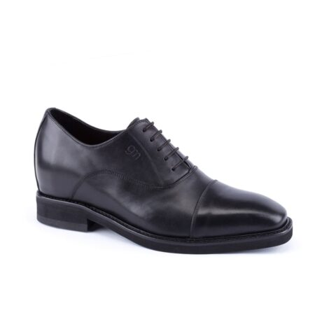 black oxford leather dress shoes 1