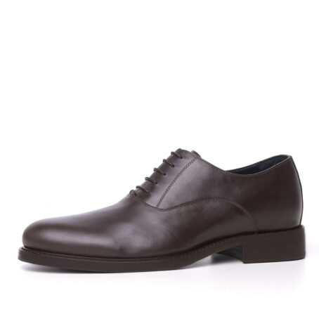 brown dress shoes with raised heel