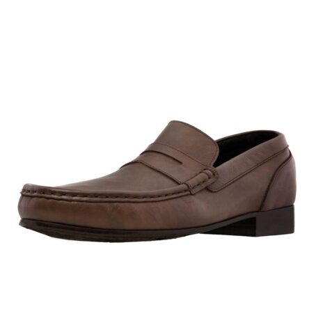 Leather mocassin with elevated heel for men Guidomaggi