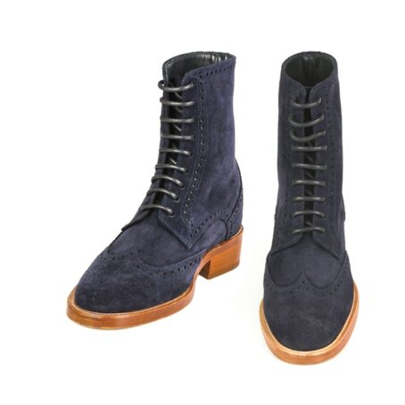 brogue boots with raised heel for men Guidomaggi