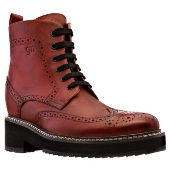 red bordeaux brogue boots 1