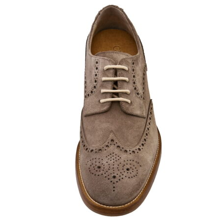 Brogue shoes with raised heel for men Guidomaggi