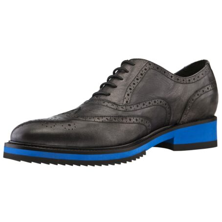 black oxford wingtip brogue shoes with blue outsole 3