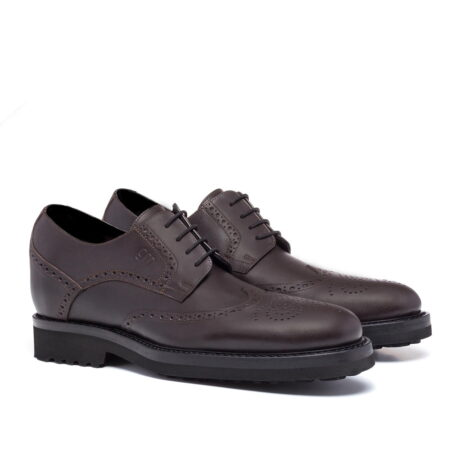 classic brown derby shoes wingtip brogue 5