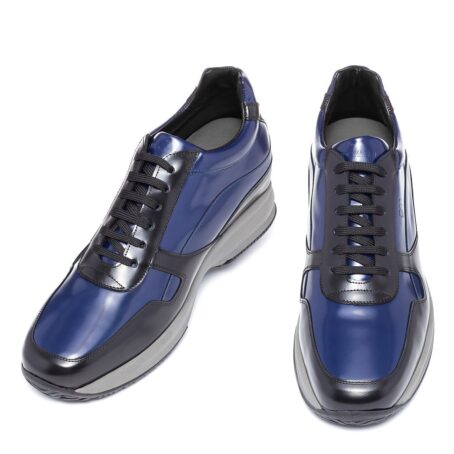 Leather sneaker with raised heel for short menu guidomaggi switzerland
