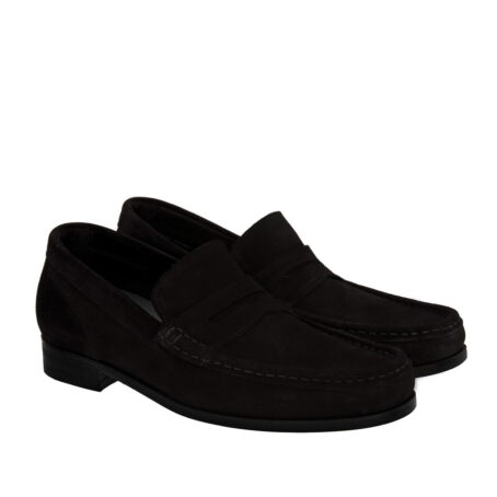 deep black suede mocassini for man 5
