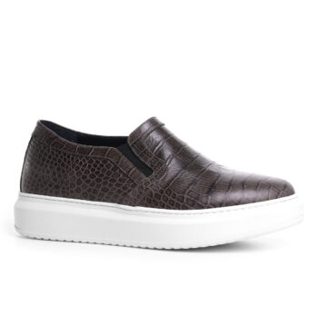 leather slip-on shoe for men invisible height increasing guidomaggi switzerland