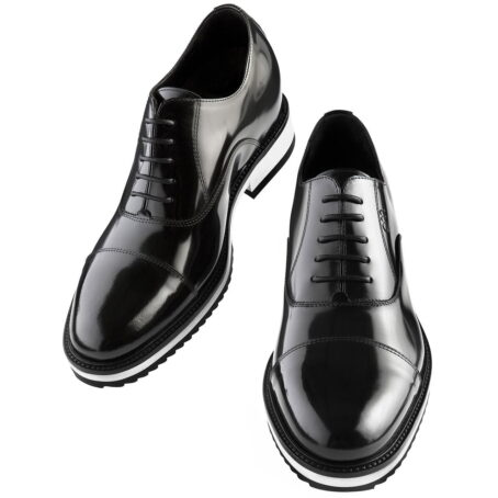 patent black leather dress shoes with white outsole 2