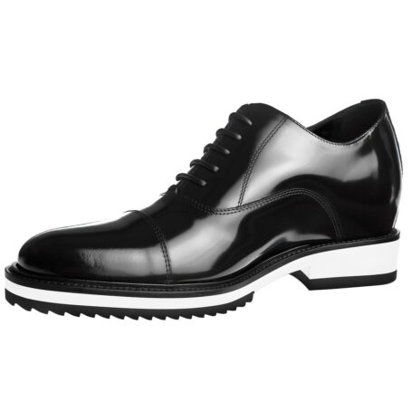 patent black leather dress shoes with white outsole 3