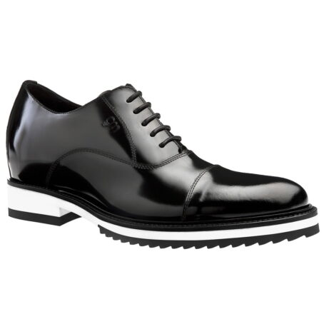 patent black leather dress shoes with white outsole 1