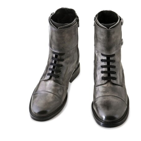 boots in grey aged leather 2
