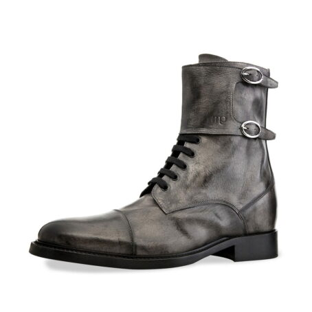 boots in grey aged leather 3