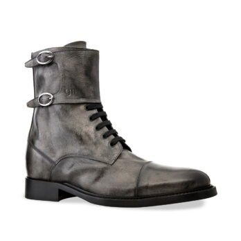 boots in grey aged leather 1