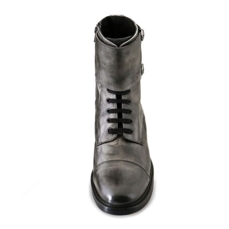 boots in grey aged leather 4