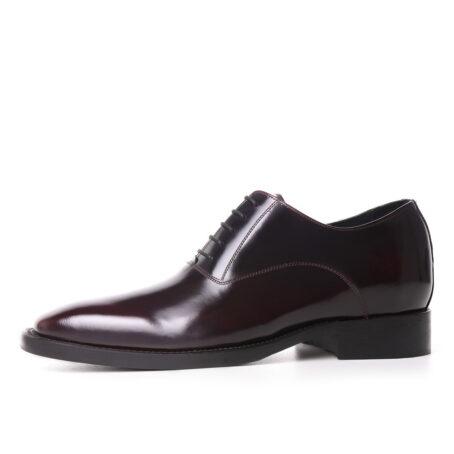dark bordeaux patent oxford dress shoes for man 3