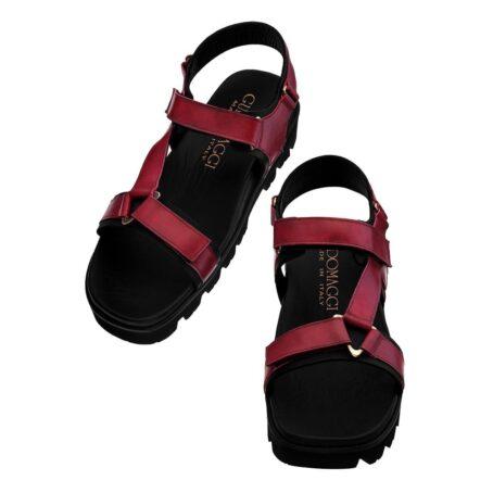 burgundy sandals for man 2